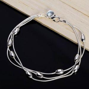 "925 Sterling Silver Multi Ball Bead Bracelet 8"""